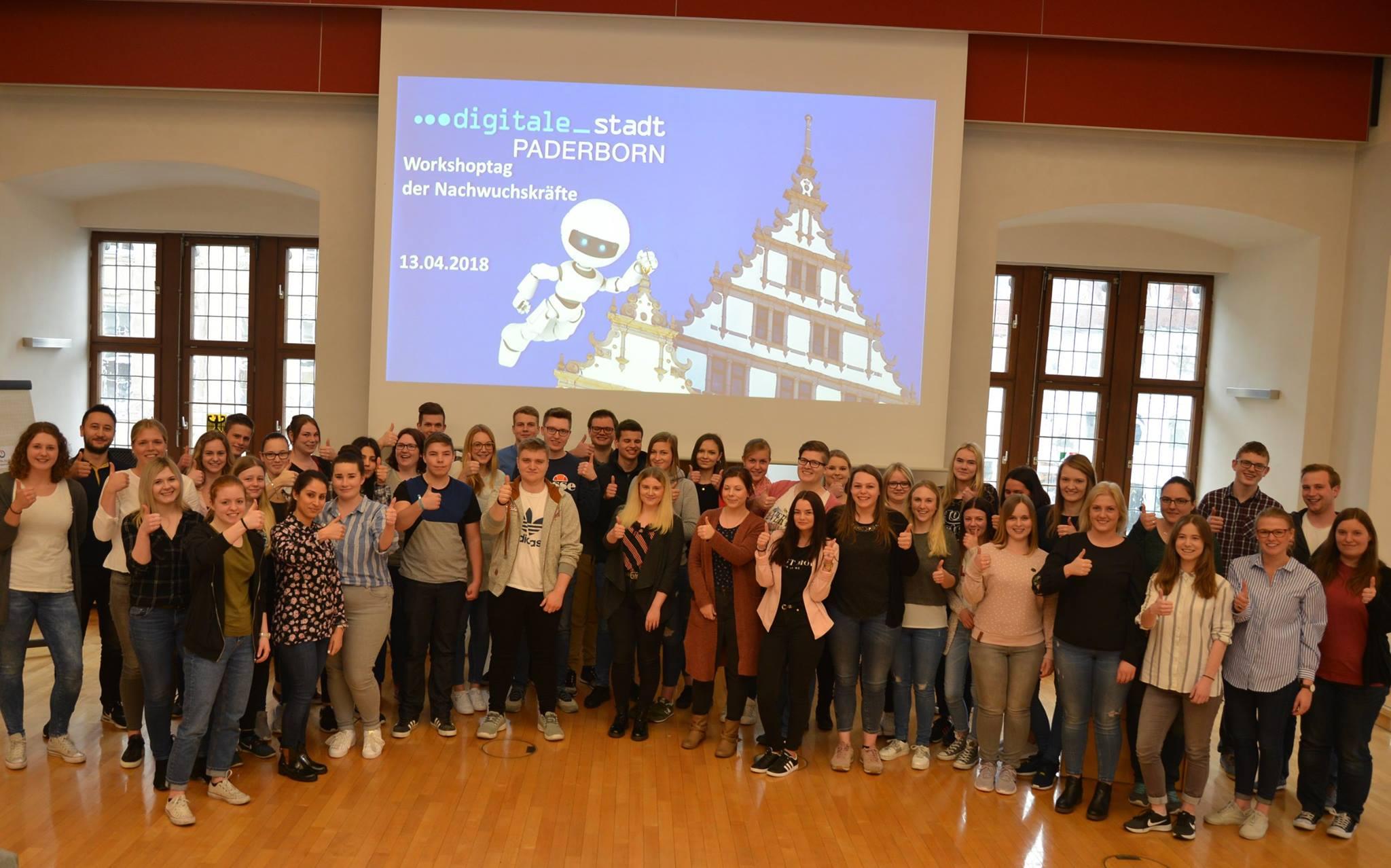 Teilnehmer:innen des Workshops zum Thema Digitale Stadt